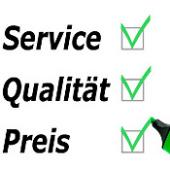 Service, Qualität und der Preis  sind unsere Stärken!