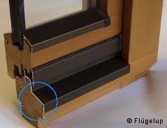 fl gelabdeckprofil f r holzfenster wetterschutz fl gelabdeckung. Black Bedroom Furniture Sets. Home Design Ideas